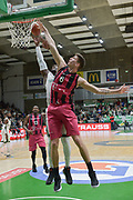 Shot of Johan Passave Ducteil of Nanterre 92 team and defense of Tomislav Zubcic of Telekom Baskets Bonn during the Champions League, Group D, basketball match between Nanterre 92 and Telekom Baskets Bonn on January 24, 2018 at Palais des Sports Maurice Thorez in Nanterre, France - Photo I-HARIS / ProSportsImages / DPPI