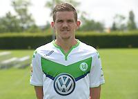 German Soccer Bundesliga 2015/16 - Photocall of VfL Wolfsburg on 16 July 2015 at the Volkswagen-Arena in Wolfsburg, Germany: Sebastian Jung