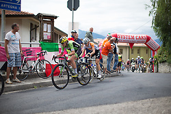 Doris Schweizer (SUI) of Cylance Pro Cycling digs deep in the last few kilometres of the Giro Rosa 2016 - Stage 2. A 111.1 km road race from Tarcento to Montenars, Italy on July 3rd 2016.