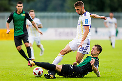Jan Mlakar of NK Maribor and Ivan Vasiljevic of NK Rudar Velenje during football match between NK Rudar Velenje and Maribor in 1st Round of Prva liga Telekom Slovenije 2018/19, on July 22, 2018 in Mestni stadion ob Jezeru, Velenje , Slovenia. Photo by Ziga Zupan / Sportida