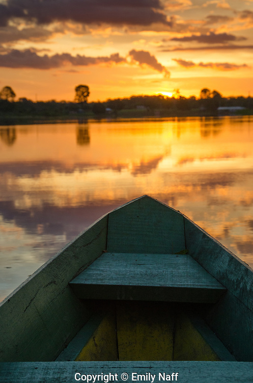 Sunset in the Amazon.