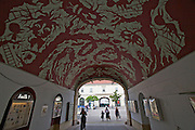 Vienna. MuseumsQuartier (MQ Vienna) is celebrating its 10th year..Ceiling painted by Stephane Blanquet.