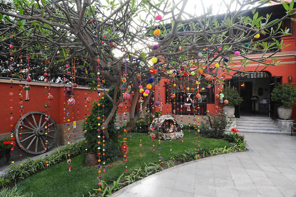 Hanging tree ornaments, Mira Flores, Lima, Peru