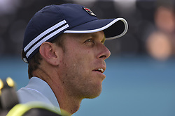 June 18, 2018 - London, England, United Kingdom - Sam Querrey of the United States looks during the first round match against Jay Clarke of Great Britain during Day one of the Fever-Tree Championships at Queens Club on June 18, 2018 in London, United Kingdom. (Credit Image: © Alberto Pezzali/NurPhoto via ZUMA Press)
