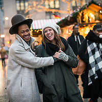 Shoppers enjoy the Christkindlemarket in Chicago