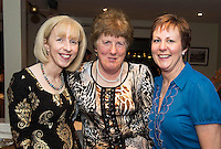 07/12/2014   Linda McMahon, Kilcolgan, Mary Linnane, Kinvara and Fidelas Bermingham Kinvara,<br /> at The Pier Head, Kinvara for Oiche Nollaig na mban (night out for the chicks!) started out as a fun Christmas night for the ladies. Organised by Mary Moloney, Ruth sexton, Valerie Forkan, Sarah Linnane &amp; Jackie Veale, the women quickly decided to make it a fundraiser. Being a women's night the obvious charity of choice was breast cancer awareness, the NBCRI was the chosen beneficiary.  120 participated in the chain link, all sporting a variety of pink bras! Some Christmas carols at the village tree while hanging the bras on the tree was another highlight! PHOTO:Andrew Downes