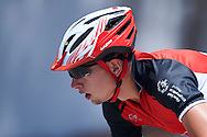 SO Poland athlete Pawel Gasiorowski competes at cycling competition during seventh day of the Special Olympics World Games Los Angeles 2015 on July 31, 2015 at Aquarium Way of Long Beach  in Los Angeles, USA.<br /> <br /> USA, Los Angeles, July 31, 2015<br /> <br /> Picture also available in RAW (NEF) or TIFF format on special request.<br /> <br /> For editorial use only. Any commercial or promotional use requires permission.<br /> <br /> Adam Nurkiewicz declares that he has no rights to the image of people at the photographs of his authorship.<br /> <br /> Mandatory credit:<br /> Photo by © Adam Nurkiewicz / Mediasport