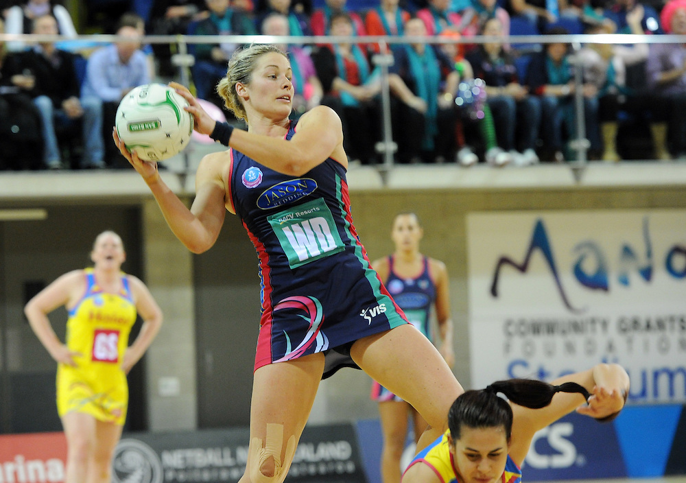 Vixens Julie Corletto against the Pulse in the ANZ Championship netball match at Te Rauparaha Arena, Porirua, New Zealand, Monday, June 25, 2012. Credit:SNPA / Ross Setford