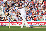 Ben Stokes of England closes his eyes after hitting his shot high in the air which is caught by wicketkeeper Peter Nevill of Australia during the 5th Investec Ashes Test Match match at the Kia Oval, London<br /> Picture by Alan Stanford/Focus Images Ltd +44 7915 056117<br /> 21/08/2015