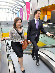 © Licensed to London News Pictures. 28/09/2011. LONDON, UK. David Miliband, Leader of the Labour Party arrives for a television interview  at The Labour Party Conference in Liverpool today (28/09/11). Photo credit:  Stephen Simpson/LNP