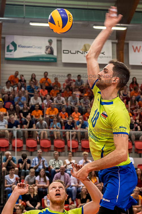 20-05-2018 NED: Netherlands - Slovenia, Doetinchem<br /> First match Golden European League / Dane Mijatovic #18 of Slovenia