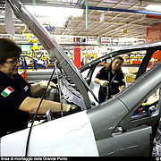 Fiat Mirafiori linea di montaggio della grande Punto