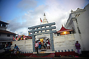 Hundreds of people gather in UNESCO World Heritage, Galle Fort, during Binara Full Moon Poya Day.