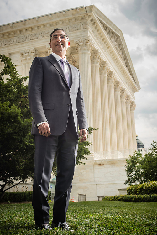 WASHINGTON, DC -- 8/10/17 -- Supreme Court lawyer Neal Katyal is one of the leading attorneys for the state of Hawaii as they fight President Trump's travel ban. Katyal, now an attorney with Hogan Lovells, and former Acting Solicitor General, has argued more cases before the Supreme Court, 34, than any other minority attorney except Thurgood Marshall, with whom he's currently tied..…by André Chung #_AC13928