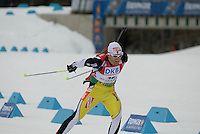 Pavol HUrajt (SVK) competes in the World Cup Biathlon men's Sprint Competition on March 13, 2009