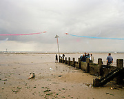 Southend Air show during display by the 'Red Arrows', Britain's Royal Air Force aerobatic team.