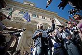 Beppe Grillo at Montecitorio square