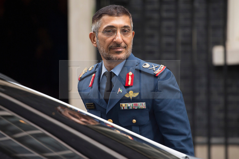 © licensed to London News Pictures. London, UK 11/09/2013. The Deputy Chief of Staff of UAE Armed Forces, Staff Major General Eisa Saif Al Mazrouei arriving Downing Street, London on Wednesday, September 11, 2013. Photo credit: Tolga Akmen/LNP