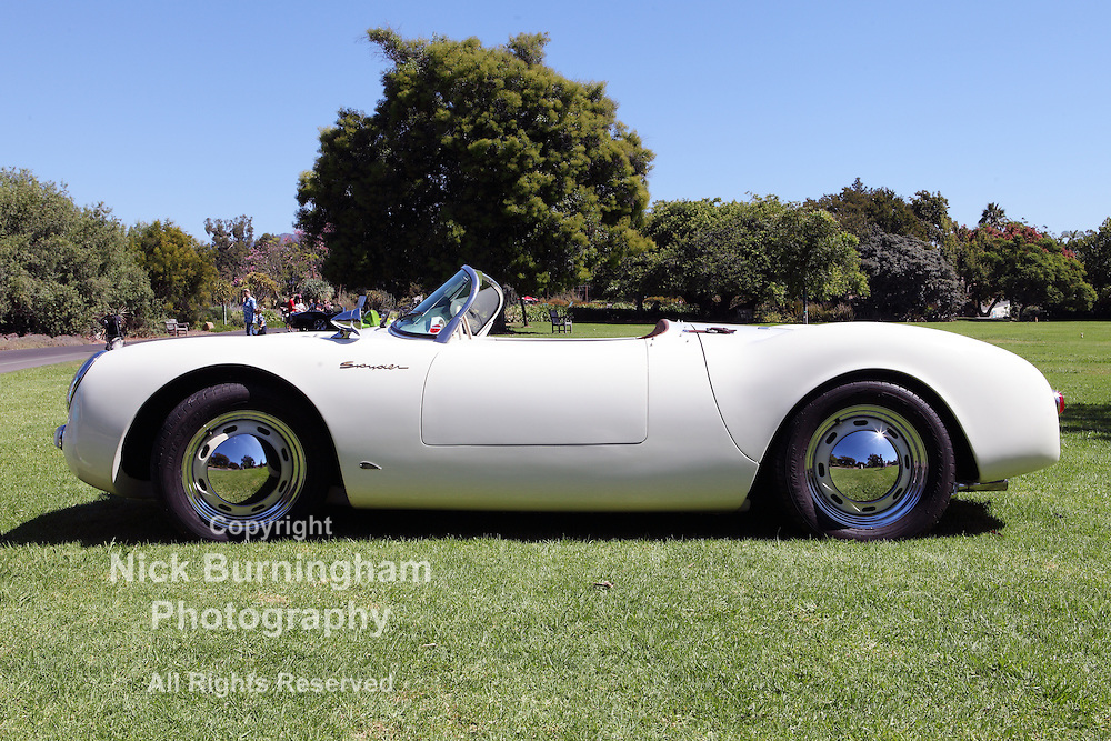 ARCADIA, CALIFORNIA, USA, SEPTEMBER 6, 2013. Spyders in the Garden car show at the Los Angeles Arboretum on September 6, 2013. A 2003 Porsche 550 Spyder Replica with a 2.1 liter flat four engine.