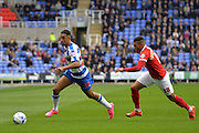 Reading's Nick Blackman attacking up the right wing during the Sky Bet Championship match between Reading and Charlton Athletic at the Madejski Stadium, Reading, England on 17 October 2015. Photo by Mark Davies.