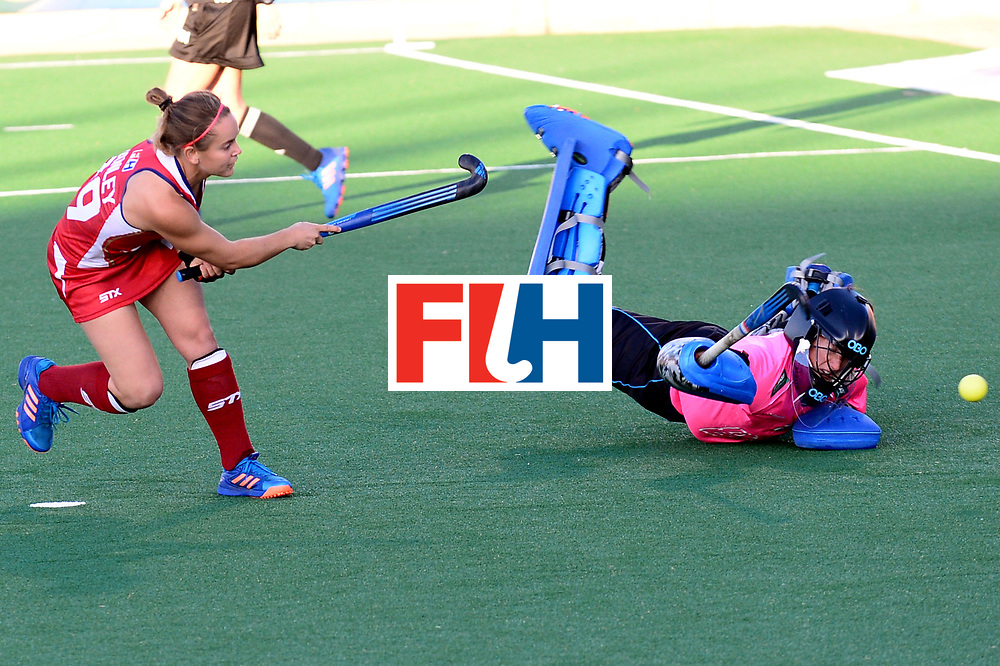 JOHANNESBURG, SOUTH AFRICA - JULY 23: Alyssa Manley of United States of America scores during day 9 of the FIH Hockey World League Women's Semi Finals, final  match between United States and Germany at Wits University on July 23, 2017 in Johannesburg, South Africa. (Photo by Getty Images/Getty Images)