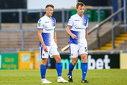 Ollie Clarke of Bristol Rovers and Tony Craig of Bristol Rovers  - Mandatory by-line: Ryan Hiscott/JMP - 14/08/2018 - FOOTBALL - Memorial Stadium - Bristol, England - Bristol Rovers v Crawley Town - Carabao Cup