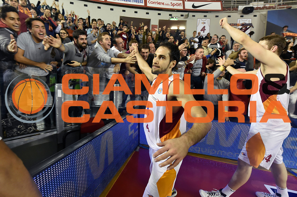 DESCRIZIONE : Roma Lega A 2014-2015 Acea Roma Openjob Metis Varese<br /> GIOCATORE : Rok Stipcevic<br /> CATEGORIA : esultanza postgame<br /> SQUADRA : Acea Roma<br /> EVENTO : Campionato Lega A 2014-2015<br /> GARA : Acea Roma Openjob Metis Varese<br /> DATA : 16/11/2014<br /> SPORT : Pallacanestro<br /> AUTORE : Agenzia Ciamillo-Castoria/GiulioCiamillo<br /> GALLERIA : Lega Basket A 2014-2015<br /> FOTONOTIZIA : Roma Lega A 2014-2015 Acea Roma Openjob Metis Varese<br /> PREDEFINITA :