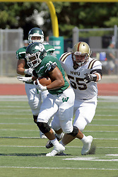 T09 September 2017:  Matese Scot, Tyler Sorensen during an NCAA division 3 football game between the Nebraska Wesleyan PRAIRIE WOLVES and the Illinois Wesleyan Titans in Tucci Stadium on Wilder Field, Bloomington IL