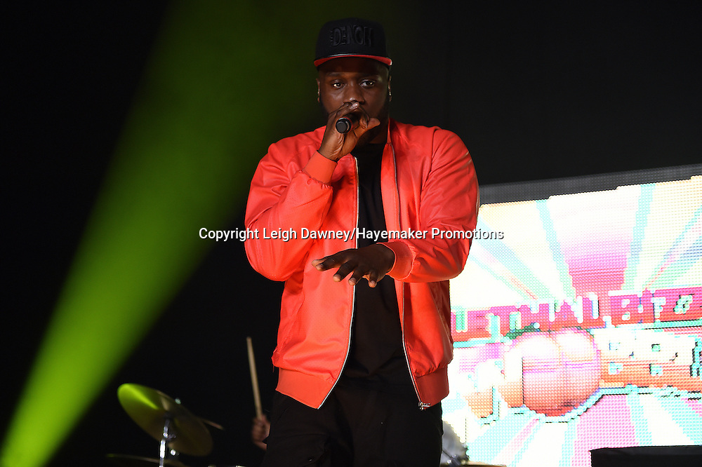 Rapper, Lethal Bizzle performs on stage ahead of the David Haye v Arnold Gjergjaj heavyweight contest at the 02 Arena, London on the 21st May 2016. Photo credit: Leigh Dawney/Hayemaker Promotions