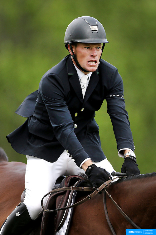 NORTH SALEM, NEW YORK - May 15: Filip De Wandel, Belgium, riding Gentley, in action during The $50,000 Old Salem Farm Grand Prix presented by The Kincade Group at the Old Salem Farm Spring Horse Show on May 15, 2016 in North Salem. (Photo by Tim Clayton/Corbis via Getty Images)