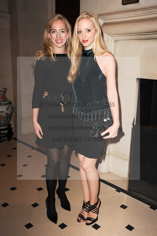 Left to right, VICTORIA PATTINSON and LIZZY PATTINSON sisters of actor Rupert Pattinson at a reception hosted by Films Without Borders at the Lanesborough Hotel, Hyde Park Corner, London on 27th October 2010.