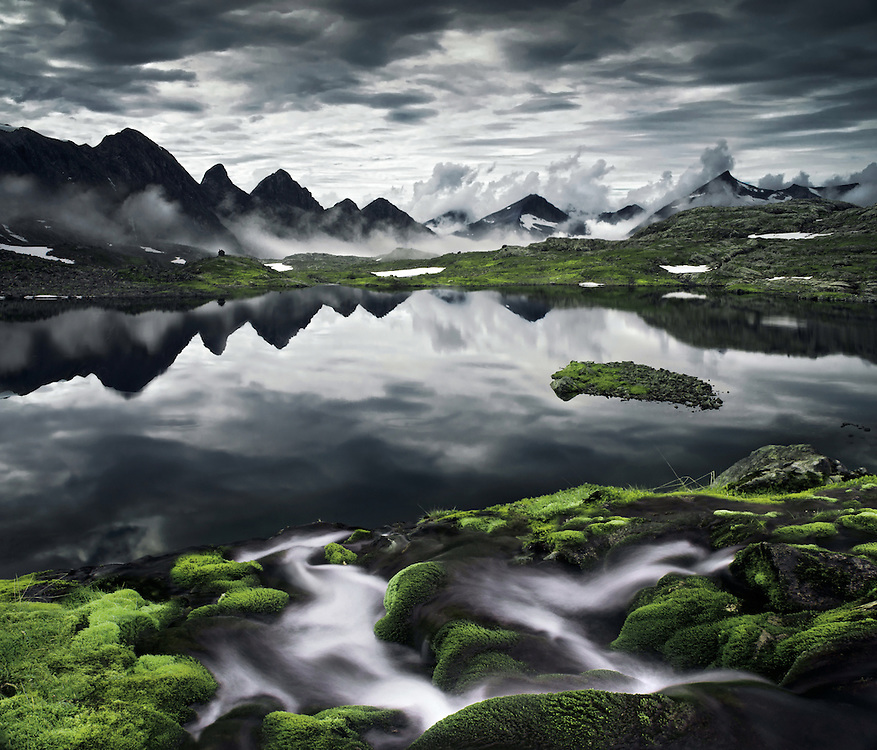 Romsdal, lake, waterfall, rainy, photography, max rive