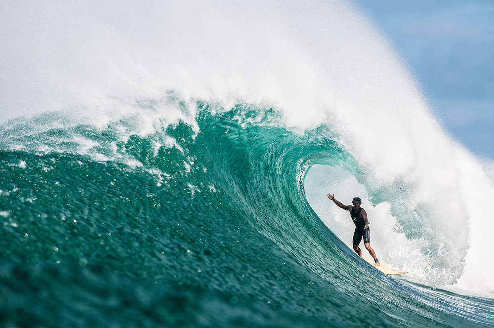 Surfer in the tube, Hawaii
