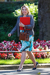 © Licensed to London News Pictures. 19/07/2016. London, UK. Culture, Media and Sports Secretary KAREN BRADLEY attending the first cabinet meeting under Theresa May's leadership in Downing Street on Tuesday, 19 July 2016. Photo credit: Tolga Akmen/LNP
