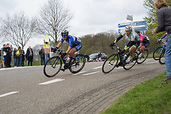Kim de Baat & Thalita de Jong lead the chase at the Amstel Gold Race Ladies Edition - a 121.6 km road race between Maastricht and Valkenburg on April 16 2017 in Limburg, Netherlands.