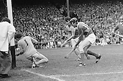 Wexford goalie is too late as Cork sends the ball into the net during the All Ireland Senior Hurling Final, Cork v Wexford in Croke Park on the 5th September 1976. Cork 2-21, Wexford 4-11.