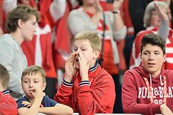 Fan of Denmark during handball match between National teams of Macedonia and Denmark on Day 7 in Main Round of Men's EHF EURO 2018, on January 24, 2018 in Arena Varazdin, Varazdin, Croatia. Photo by Mario Horvat / Sportida