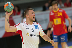 10.06.2015, Olympiahalle, Innsbruck, AUT, EHF Euro Qualifikation, Gruppe 7, Österreich vs Spanien, im Bild Vytautas Ziura (AUT) // during the EHF Euro Qualifikation group 7 match between Austria and Spain at Olympiahalle, Innsbruck, Austria on 2015/06/10. EXPA Pictures © 2015, PhotoCredit: EXPA/ Jakob Gruber