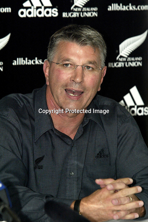 19 December 2002, Rugby Union HQ, Wellington, New Zealand. Adidas resigning press conference.<br />