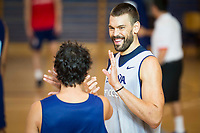 Marc Gasol and Sergio Llull during the Spain training session before EuroBasket 2017 in Madrid. August 02, 2017. (ALTERPHOTOS/Borja B.Hojas)