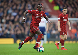 LIVERPOOL, ENGLAND - Sunday, March 31, 2019: Liverpool's Sadio Mane during the FA Premier League match between Liverpool FC and Tottenham Hotspur FC at Anfield. (Pic by David Rawcliffe/Propaganda)