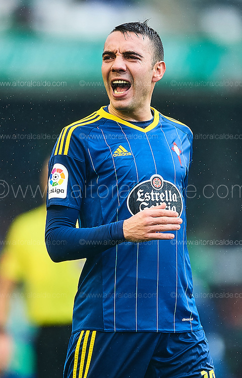 SEVILLE, SPAIN - DECEMBER 04:  Iago Aspas of RC Celta de Vigo looks on during La Liga match between Real Betis Balompie an RC Celta de Vigo at Benito Villamarin Stadium on December 4, 2016 in Seville, Spain.  (Photo by Aitor Alcalde Colomer/Getty Images)