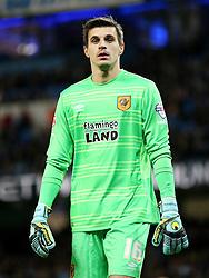 Aldin Jakupovic of Hull City  - Mandatory byline: Matt McNulty/JMP - 01/12/2015 - Football - Etihad Stadium - Manchester, England - Manchester City v Hull City - Capital One Cup - Quarter-final