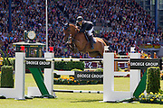 Olivier Guillon - Lord de Theize<br /> World Equestrian Festival, CHIO Aachen 2012<br /> © DigiShots