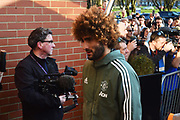 Marouane Fellaini (27) of Manchester United arriving at the Vitality Stadium before the Premier League match between Bournemouth and Manchester United at the Vitality Stadium, Bournemouth, England on 18 April 2018. Picture by Graham Hunt.
