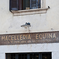 A Macelleria Equina shop in Verona.Verona is a city in Veneton, Northern Italy home to approx. 265,000 inhabitants and one of the seven provincial capitals of the region. Verona has Roman origins and  derived importance from being at the intersection of many roads. It is world famous for the Arena and its Opera....***Agreed Fee's Apply To All Image Use***.Marco Secchi /Xianpix. tel +44 (0) 207 1939846. e-mail ms@msecchi.com .www.marcosecchi.com