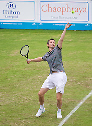 LIVERPOOL, ENGLAND - Thursday, June 18, 2015: Richard Krajicek (NED) during Day 2 of the Liverpool Hope University International Tennis Tournament at Liverpool Cricket Club. (Pic by David Rawcliffe/Propaganda)