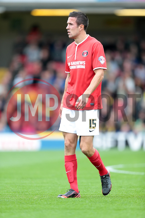 Charlton Athletic's Richard Wood  - Photo mandatory by-line: Nigel Pitts-Drake/JMP - Tel: Mobile: 07966 386802 14/09/2013 - SPORT - FOOTBALL -  Vicarage Road - Hertfordshire - Watford V Charlton Athletic - Sky Bet Championship