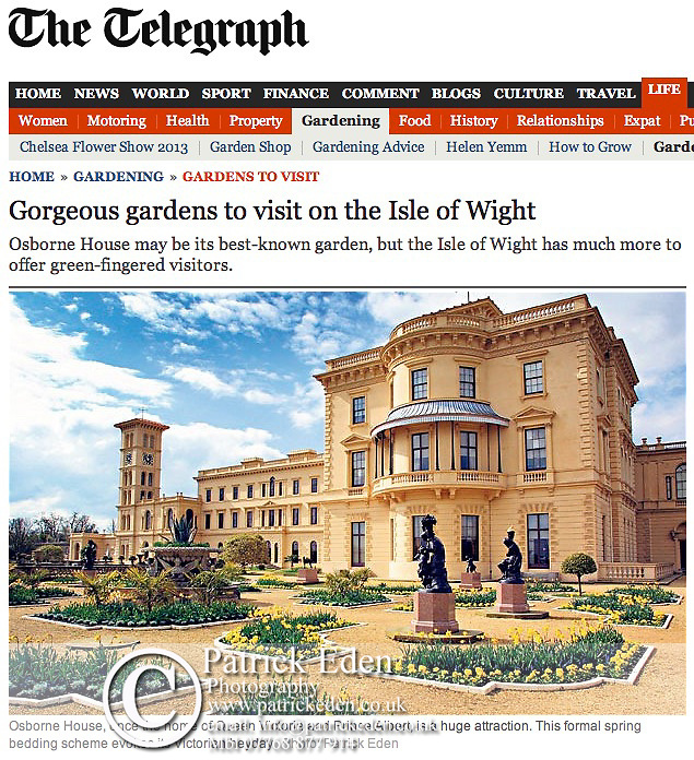 The Daily Telegraph, Osborne House, East, Cowes,Isle of Wight, England,