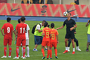 Cristiano Ronaldo interacts with Chinese young football players - 24 July 2018